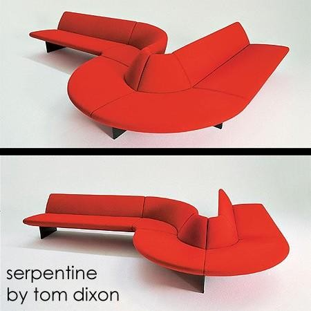 Serpentine Seat By Tom Dixon For Moroso Of Italy contemporary sofas