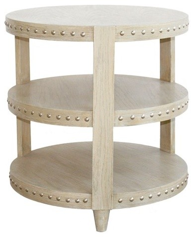Worlds Away Nora Limed Oak Side Table contemporary side tables and accent tables