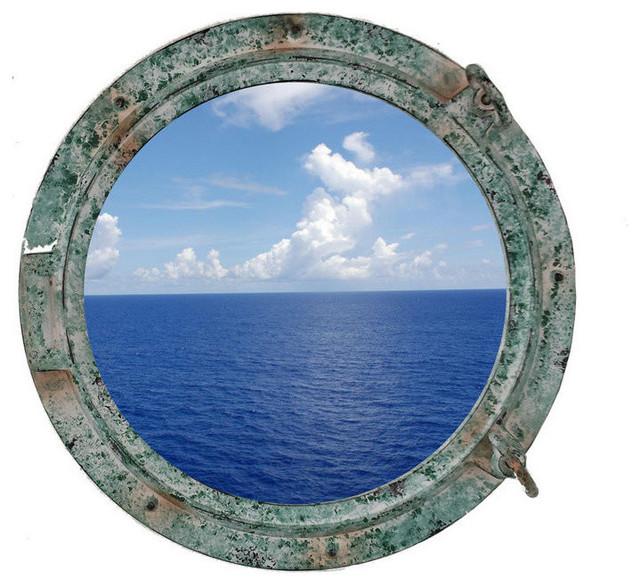Port hole modern mirrors by handcrafted nautical decor - Titanic Shipwrecked Porthole Window 15 Porthole Decor