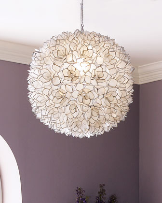 Capiz-Shell Pendant Light contemporary chandeliers