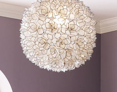 Capiz-Shell Pendant Light contemporary-chandeliers