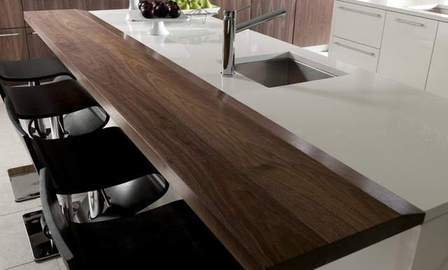 Contemporary Walnut Island Bar Top Countertop By Grothouse