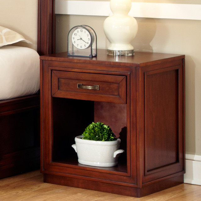 Cherry Duet Storage Night Stand - Contemporary - Nightstands And Bedside Tables - by Overstock.com