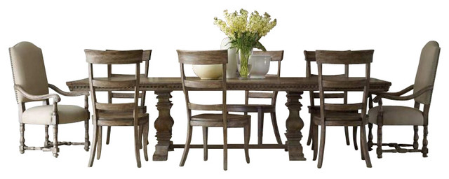 Sorella 9 Piece Rectangular Dining Table Set Brown  : transitional dining sets from www.houzz.com size 640 x 256 jpeg 45kB