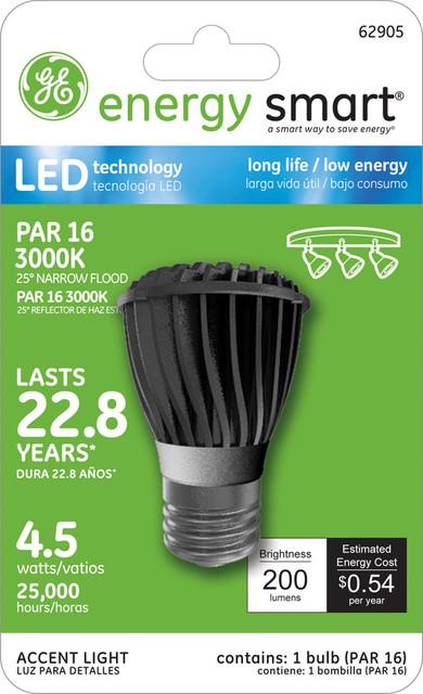 GE Energy Smart 25W Replacement (4.5W) PAR16 LED Bulb (Warm, Energy Star) led-bulbs