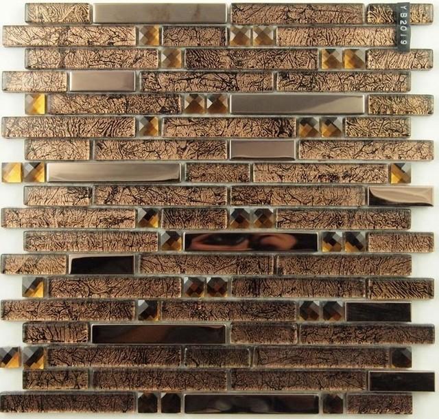 Stainless Steel Mosaic Tiles Glass mosaic tile backsplash mosaic tiles SSMT150 modern-mosaic-tile