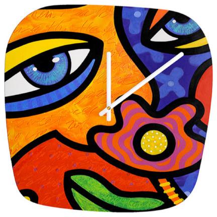 """""""Lilli Lilligrin"""" Art Clock contemporary-clocks"""