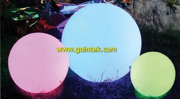 LED RGB Backyard Ball Lamp modern-garden-sculptures