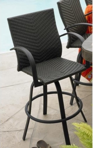 Leather Swivel Barstool Set Of 2 Traditional Outdoor Benches Denver By Home And Hearth