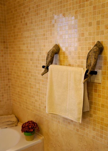 double curtains towel bars