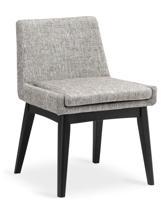Bryght - Chanel Coral Fabric Upholstered Ebony Dining Chair - Stunning good looks and comfort define the Chanel dining chair. It's splayed leg design sets the stage for a mid century modern appeal to your interiors.