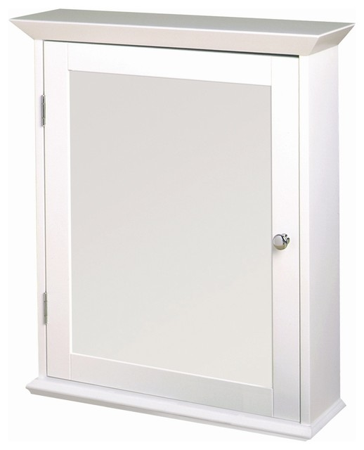 Classic White Swing Door Medicine Cabinet - W - Contemporary - Medicine Cabinets - by ivgStores