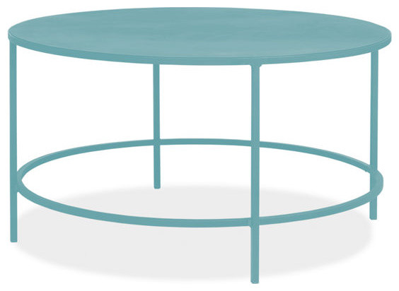 Slim Round Cocktail Table, Ocean contemporary-side-tables-and-end-tables
