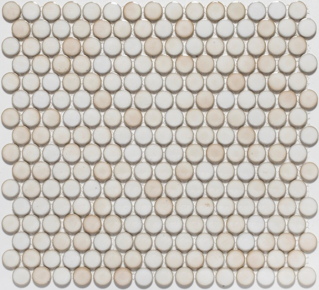 Penny Round Mosaic tiles - eclectic - tile - by Mosaic Tile Stone