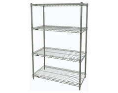 Metro Shelving Unit - 48x14x54 Chrome industrial-garage-and-tool-storage