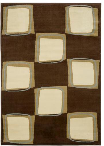 "LR Resources Adana LR80916 Brown/Cream 7'9"" x 9'9"" Area Rugs modern-rugs"