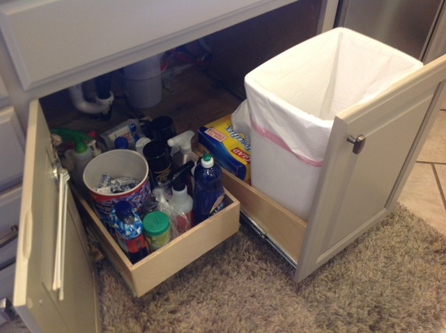 Pull Out Trash Bin - Kitchen Drawer Organizers - other metro - by ...