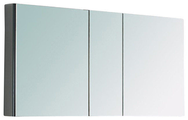 Fresca Large Bathroom Medicine Cabinet w/Mirrors - Modern - Medicine Cabinets - by DecorPlanet