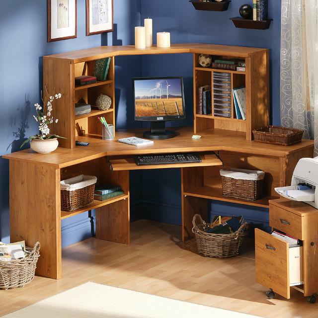 SouthShore Prairie Corner Desk, Espresso traditional-desks-and-hutches