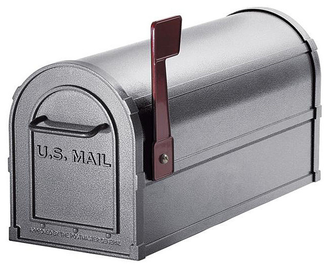 Heavy-duty Rural Pewter Mailbox - Contemporary - Mailboxes - by Overstock.com
