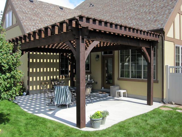 Over sized timber frame pergola arbor gazebo kits patio - Gazebo styles for outdoor elegance ...