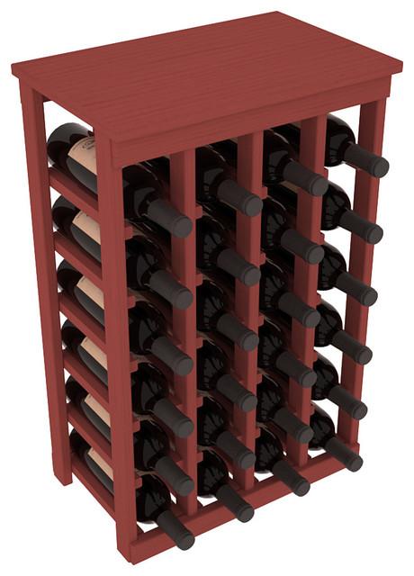 24 Bottle Kitchen Wine Rack in Ponderosa Pine, Cherry Stain contemporary-wine-racks