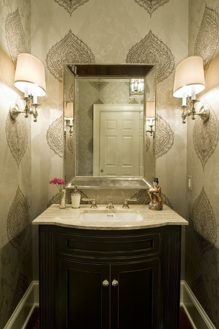 Half bath wallpaper - Powder room wallpaper ideas ...