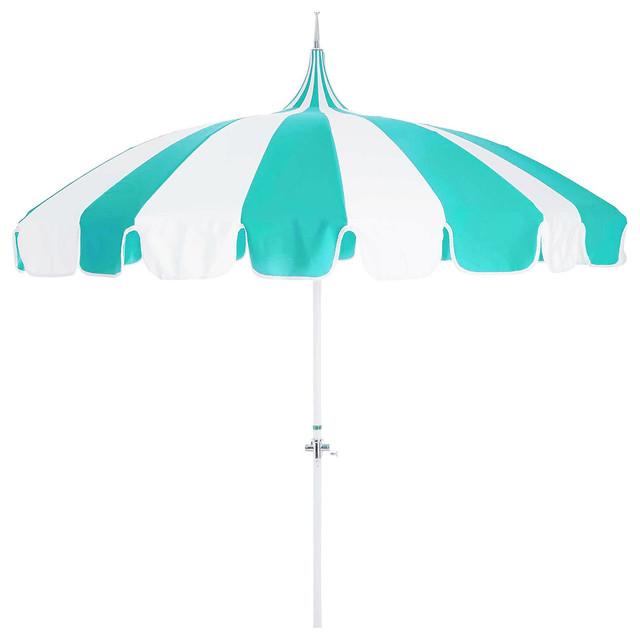 Pagoda Patio Umbrella, Aruba/White - Contemporary - Outdoor Umbrellas ...