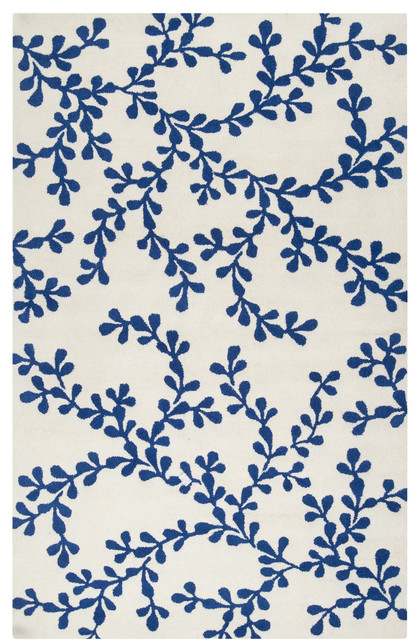 "Surya Artist Studio ART-235 3'3"" x 5'3"" White, Dark Blue Rug transitional-rugs"