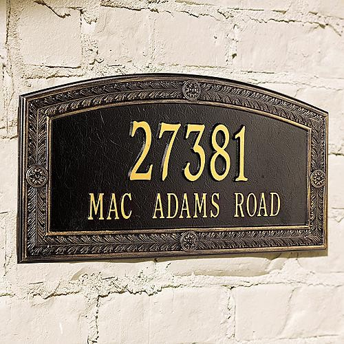 Hamilton Estate Address Plaque traditional-house-numbers