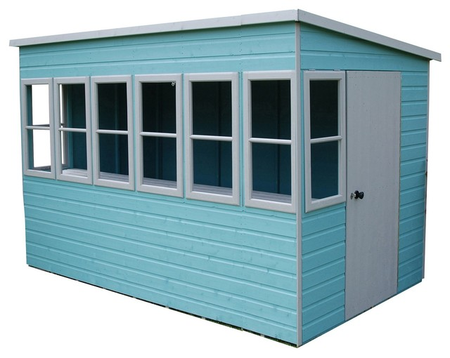 10 wooden summerhouse contemporary sheds other metro by bq - Garden Sheds 7x5