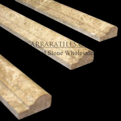 Light Emperador Marble Ogee 1 Chairrail Molding Polished - Floor Tiles - new york - by CarraraTiles