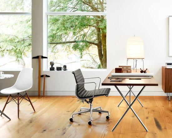Eames Aluminum Group Management Chair and Nelson X Leg Desk- Timeless Classic Ho -