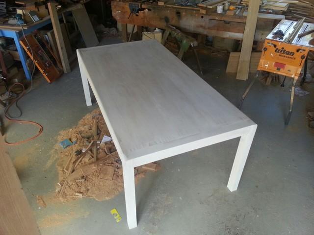 modern dining table white washed modern furniture
