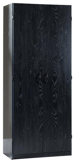 Sauder Storage Cabinet in Ebony Ash transitional-storage-cabinets