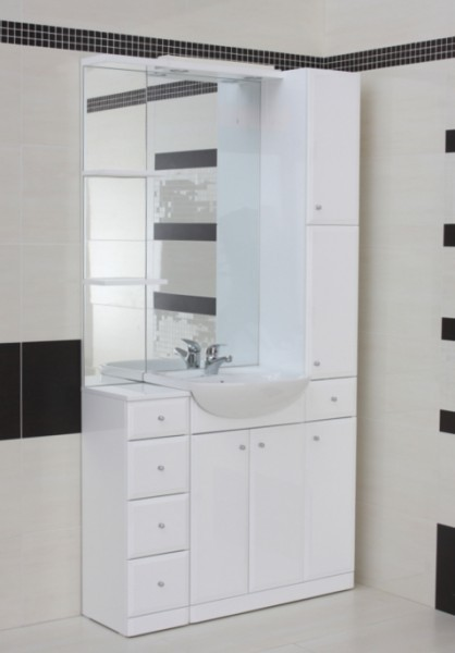 adele 1000 high gloss white vanity set contemporary bathroom vanity