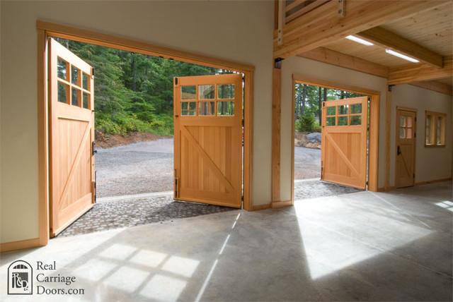Interior Detail of Real Carriage Doors traditional-garage-doors