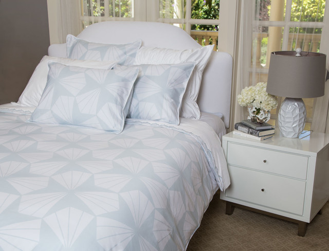 Light Blue Bedding Set, the Taylor Blue - modern - duvet covers ...