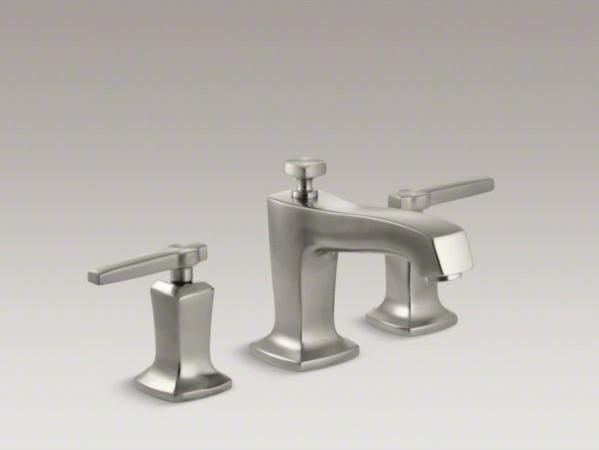 KOHLER Margaux(R) widespread bathroom sink faucet with lever handles contemporary-bathroom-faucets