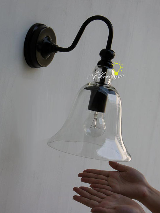 LOFT Clear Glass Wall Sconce - Size:D22cm X H25cm