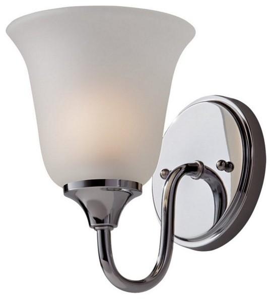 1 Bulb Chrome Vanity Strip contemporary-bathroom-lighting-and-vanity-lighting