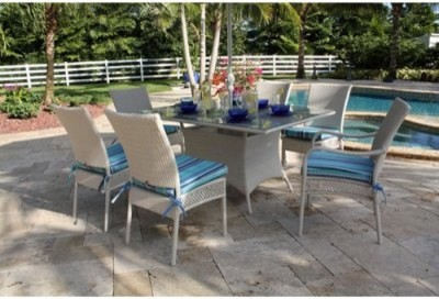 Don't leave anyone out of the party. With the Hospitality Rattan Grenada 7 Piece modern-dining-tables