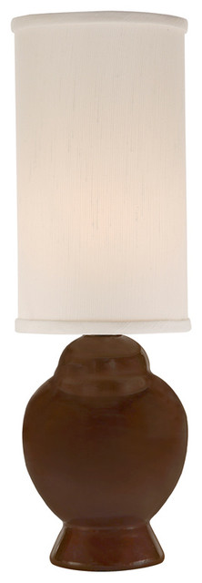 Thumprints Ginger Chocolate Table Lamp contemporary-table-lamps