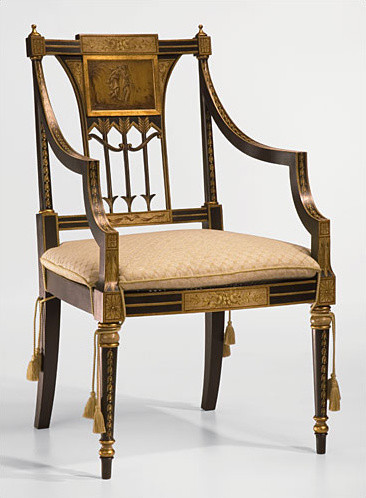 Hand Painted Sheraton Style Armchair Armchairs And Accent Chairs Miami By