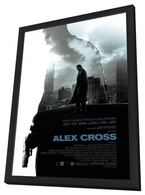 Alex Cross 11 x 17 Movie Poster - Style A - in Deluxe Wood Frame prints-and-posters