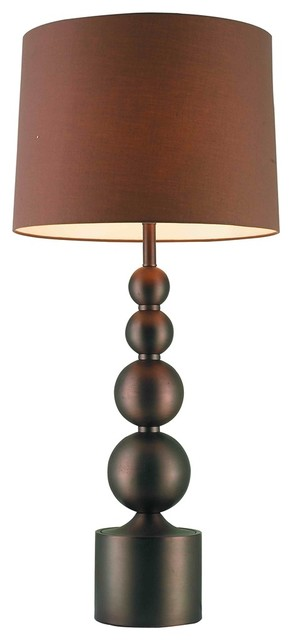 Possini Euro Design Stacked Bronze Globes Table Lamp contemporary-table-lamps
