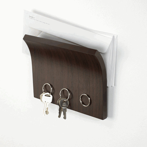 Wall Mounted Magnetic Organizer in Espresso by Umbra® modern hooks and hangers