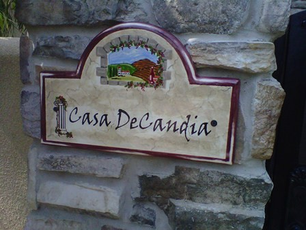 Tuscan ceramic address and house numbers plaques for Mediterranean house numbers