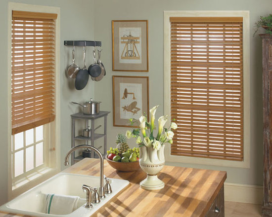 """Levolor 2"""" Visions Faux Wood Blinds - Levolor 2"""" Visions Faux Wood Blinds brighten up your home with the appearance of real wood at a much lower price. These affordable Levolor faux wood blinds are moisture resistant and won't warp or crack. They are available in premium stains and sandblasted colors. Great features like the Levolor LightMaster and cloth tapes can be added for increased privacy and style."""