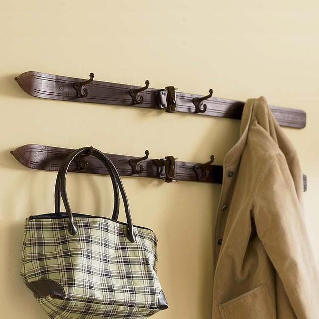 Vintage Ski Coat Rack eclectic-clothes-racks